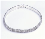 Dasha Extra Length Stretch Rhinestone Choker