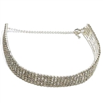 Dasha 5 Row Stretch Choker