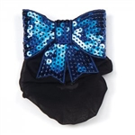 Dasha Large Flat Sequin Bow w/ Snood