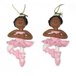Dasha Set of 2 Balllerina Ornament
