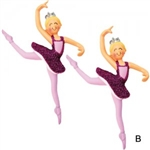 Dasha Set of 2 Sugarplum Fairy Nutcracker Ornaments