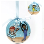 Dasha Set of 2 Blinking Ballet Ornament