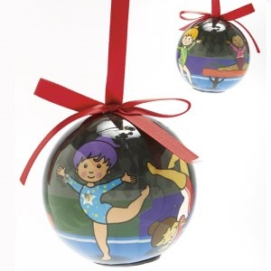 Dasha Set of 2 Blinking Gymnast Ornament
