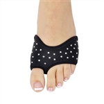 Danshuz Rhinestone Half Soles - Black - You Go Girl Dancewear