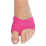 Danshuz Rhinestone Half Soles - Hot Pink - You Go Girl Dancewear