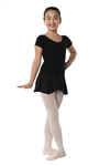 Danshuz Short Sleeve Rhinestone Dress - You Go Girl Dancewear