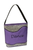 Silver Sparkle Tote Dance Bag in Purple - You Go Girl Dancewear