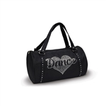 Danshuz Rhinestone Heart Dance Duffel Bag - You Go Girl Dancewear