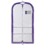 Danshuz Clear Competition Garment Bag with Lavender Trim - You Go Girl Dancewear