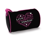 Danshuz Dance Words Heart Duffel Bag - You Go Girl Dancewear