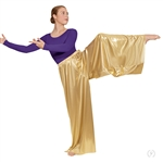 Eurotard Plus Size Metallic Palazzo Pants - You Go Girl Dancewear!