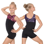 Eurotard Child Luxe Leopard Gymnastics Biketard - You Go Girl Dancewear!