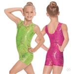 Eurotard Child Metallic Splatter Gymnastics Biketard - You Go Girl Dancewear!