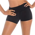 Eurotard Adult Microfiber Flat Band Athletic Shorts