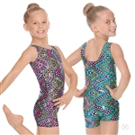 Eurotard Child Dizzy Dots Gymnastics Biketard - You Go Girl Dancewear!