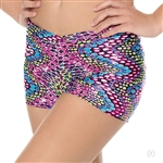 "Eurotard Adult Dizzy Dots ""V"" Waist Booty Shorts - You Go Girl Dancewear!"