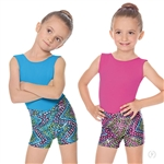 "Eurotard Child Dizzy Dots ""V"" Waist Booty Shorts - You Go Girl Dancewear!"
