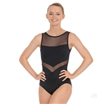 Eurotard Adult High Neck Mesh Tank Leotard