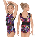 Eurotard Child Graffiti Striped Mesh Leotard - You Go Girl Dancewear!