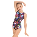 Eurotard Child Metallic Graffiti Leotard