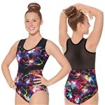 Eurotard Adult Graffiti Arrow Mesh Leotard - You Go Girl Dancewear!