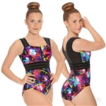 Eurotard Adult Graffiti Striped Mesh Leotard - You Go Girl Dancewear!
