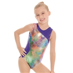 Eurotard Child Contrast Metallic Mermaid Leotard