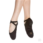 Eurotard Child Assemblé Split Sole Canvas Ballet Shoes, Black, White, Tan - You Go Girl Dancewear!