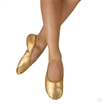 Eurotard Child Metallic Gold Full Sole Leather Ballet Shoes - You Go Girl Dancewear!