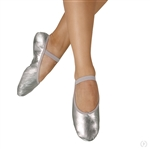 Eurotard Child Metallic Silver Full Sole Leather Ballet Shoes - You Go Girl Dancewear!