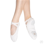 Eurotard Child Tendu Full Sole Leather Ballet Shoes, Black, White - You Go Girl Dancewear!
