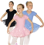 Eurotard Child Short Sleeve Skirted Leotard
