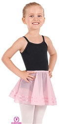 Eurotard Child Pull-On Skirt with Satin Trim - You Go Girl Dancewear