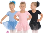 Eurotard Sparkle Short Sleeve Skirted Leotard - You Go Girl Dancewear