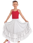Eurotard Child Solid Double Ruffle Flamenco Skirt - You Go Girl Dancewear
