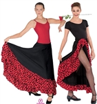 Eurotard Adult Solid/Dot Flamenco Skirt - You Go Girl Dancewear