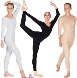 Eurotard Plus Cotton Long Sleeve Unitard - 10129P