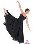 "Eurotard Adult Triple Panel Lyrical Skirt, 37"" Length - You Go Girl Dancewear"