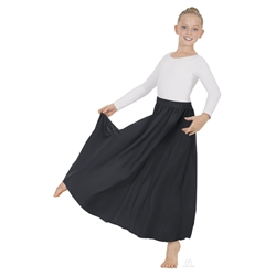 "Eurotard Child Single Panel Lyrical Skirt, 31"" Length - You Go Girl Dancewear"