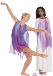 Eurotard Adult Draped Tunic, S/M-L/XL - You Go Girl Dancewear