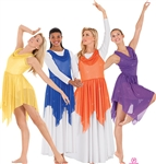 Eurotard Adult Shimmer Handkerchief Tunic, S/M-L/XL - You Go Girl Dancewear