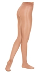 Eurotard Women's Plus Size Shimmer Footed Dance Tights by EuroSkins - You Go Girl Dancewear