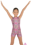 Eurotard Child Kaleidoscope Gymnastics Tank Biketard - You Go Girl Dancewear