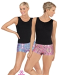 Eurotard Adult Kaleidoscope Booty Shorts - You Go Girl Dancewear