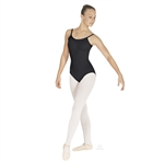 Eurotard Adult MicroValue Tall V-Back Cami Leotard in black - You Go Girl Dancewear