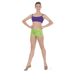 Eurotard Adult Metallic Splatter Booty Shorts - You Go Girl Dancewear