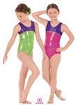 Eurotard Child Metallic Splatter Gymnastics Two-Tone Tank Leo - You Go Girl Dancewear