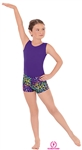 Eurotard Child Disco Leopard Booty Shorts - You Go Girl Dancewear