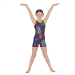 Eurotard Child Disco Leopard Gymnastics Biketard - You Go Girl Dancewear