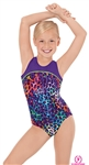 Eurotard Child Disco Leopard Gymnastics Two-Tone Tank Leotard - You Go Girl Dancewear